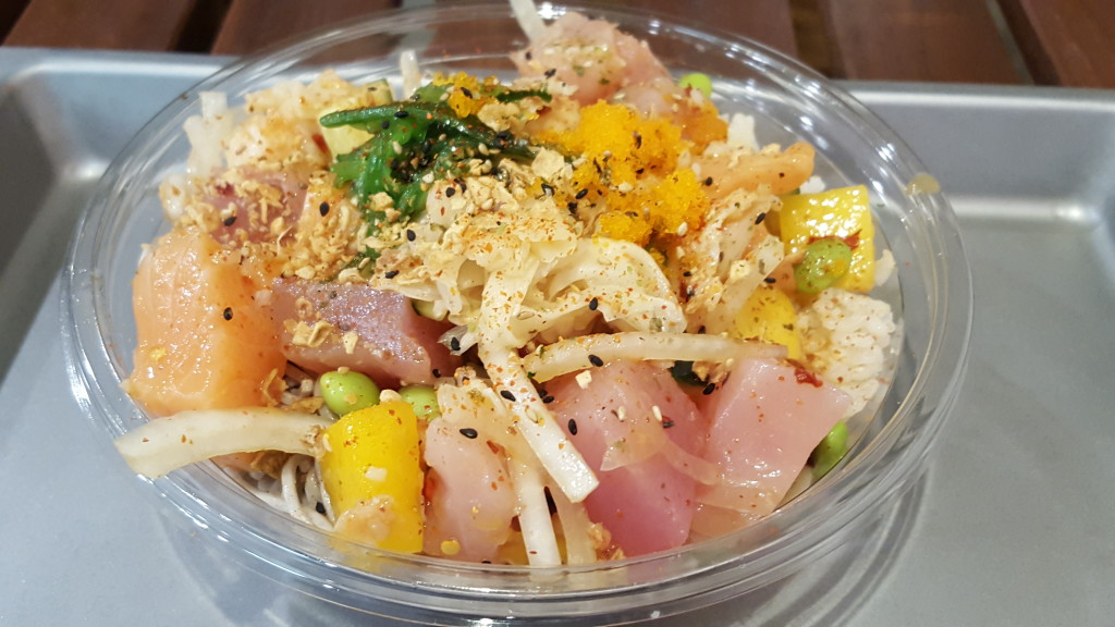 A poke bowl at Snociety. East West Players TheatrEats: East West Players Poke at Snociety 3