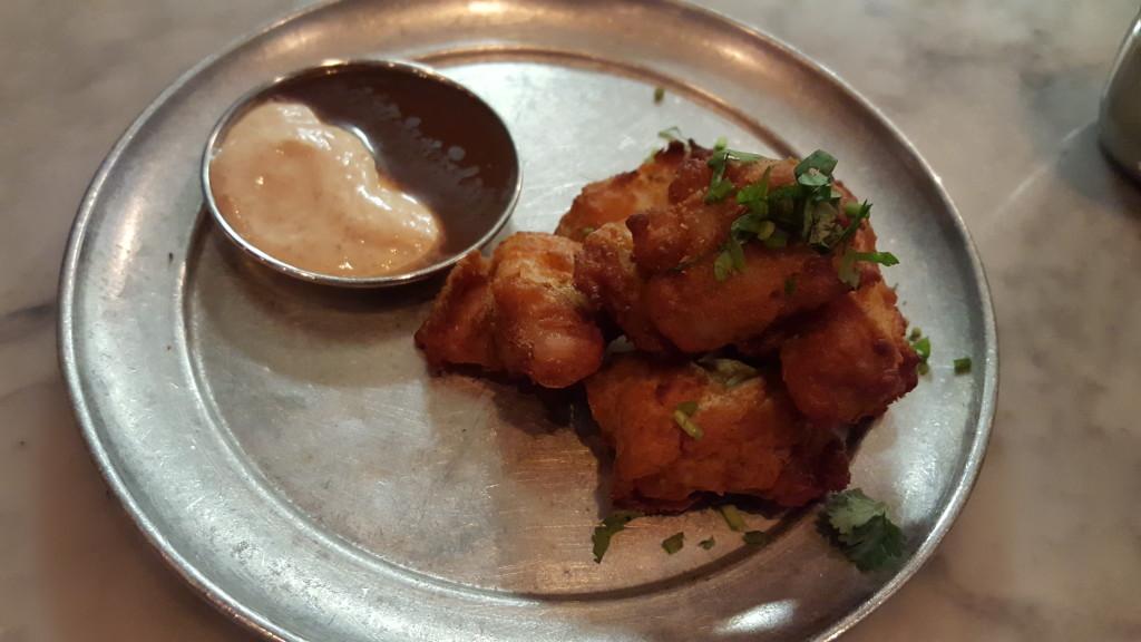 The Punjabi (aka two-bite) fish fry. Badmaash Badmaash: A Badass Indian Restaurant Punjabi fish fry at Badmaash